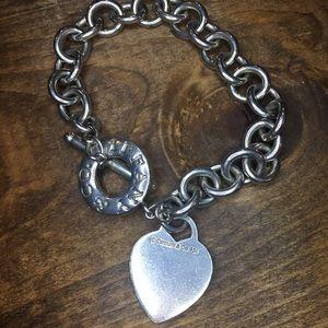 """Tiffany & Co. 925 Silver 8"""" Toggle Bracelet"""